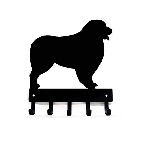 The Metal Peddler Australian Shepherd Key Rack Dog Leash Hanger - Small 6 inch Wide 1