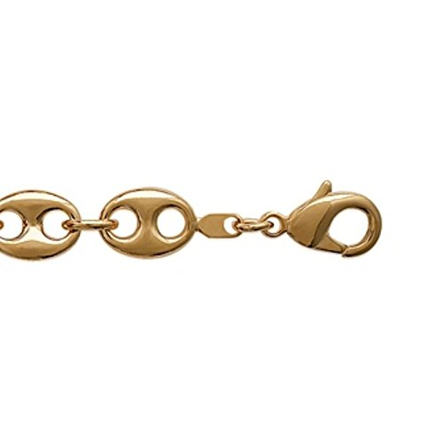Bracelet Femme Chaîne Plaqué Or 750 3 Microns