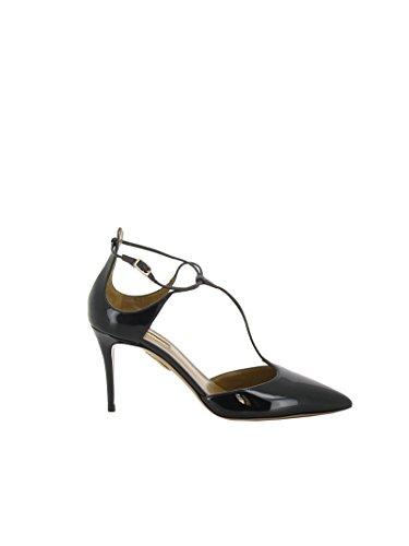 À Aquazzura Noir Femme Vernis Cuir Talons Scamidp0npa000 Chaussures TrYvrqw8