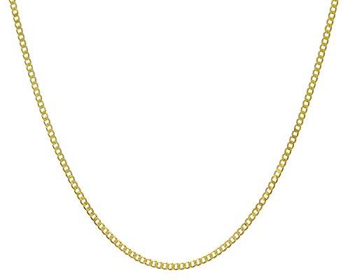 Revoni Bague en or jaune 9carats-4.4Gr-Collier Femme-Maille Gourmette, longueur 51cm/50,8cm, Largeur 2,7mm