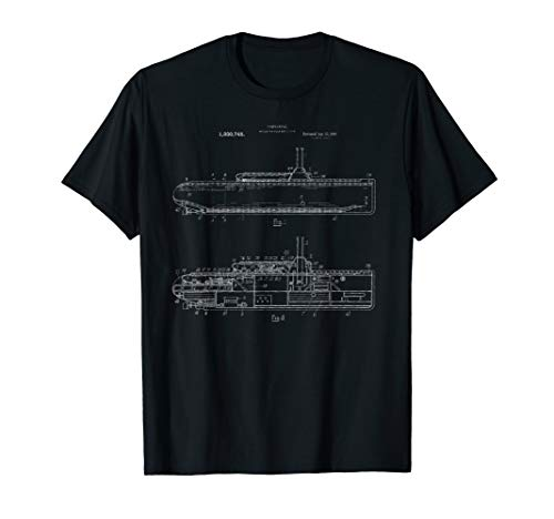 Submarine Military Blueprint Shirt - Sub Design Nuclear Tee