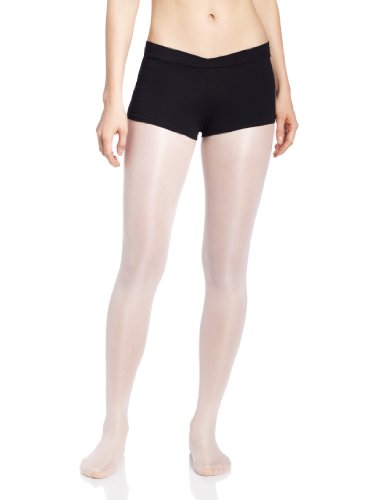 (Capezio Women's V-Front Boy Short, Black,)