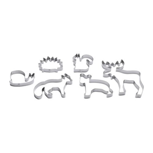 Ikea Stainless Steel Pastry Cutter 301.330.46, Set of 6, Silver