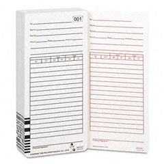 (Time Cards for ES1000 Electronic Totalizing Payroll Recorder, 100 Per Pack (ACPES1010))