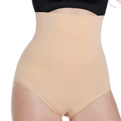 WOWENY Slimming Butt Lifter Shapewear Panties for Woman Tummy Control High Waist Panty Shaper Seamless (Beige(214), -