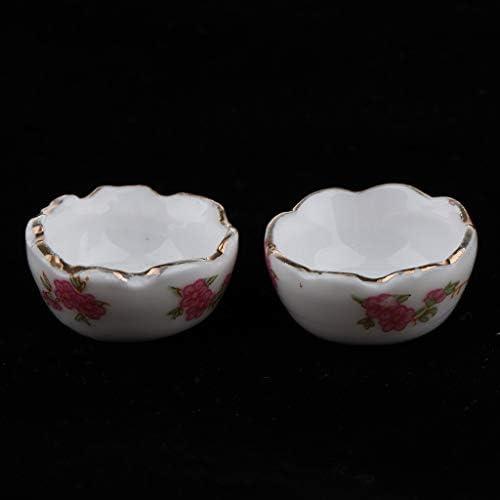 1:12 Dollhouse Miniature Ceramics Basin White Pots Model Accessories L2