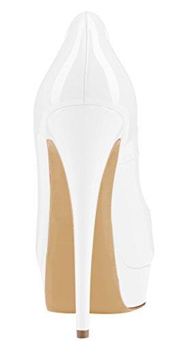 MONICOCO - Plataforma Mujer - Weiß Lackleder