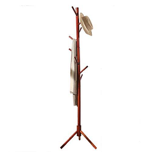 JIANFEI Floor Standing Coat Rack Hat Stand Hanger Waterproof Bearing Strong Scattered Type Hook,Bamboo 4 Colors (Color : Honey, Size : 46x172cm) -
