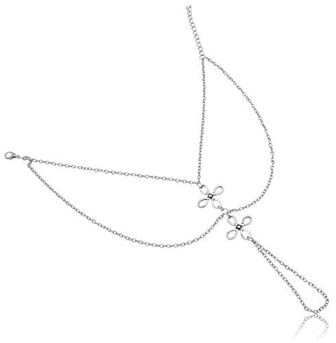 Bienvenu Barefoot Sandal Foot Jewelry Chain Anklet Bracelet,Silver_Style (Decent Halloween Costume Ideas)