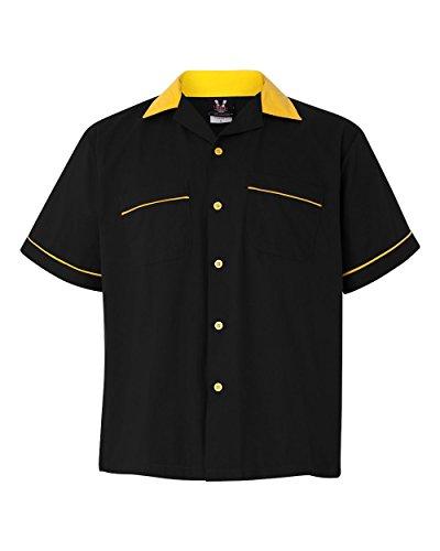 Hilton Bowling Retro Gm Legend (Black_Gold) (L) Legend Bowling Shirt