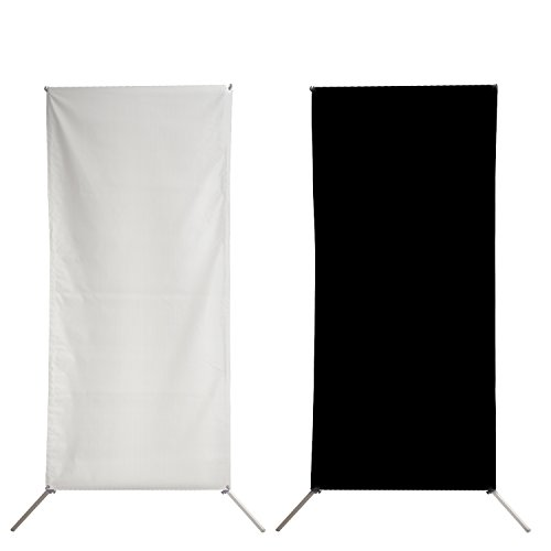 "Gold/Silver & Black/White 35"" x 71"" Flat Panel Reflector for Professional Photo Studio Indoor Lighting With Stand and Carrying Bag, AGG2591 by LimoStudio"