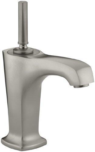 KOHLER K-16230-4-BN Margaux Single Control Lavatory Faucet, Vibrant Brushed Nickel (Nickel Margaux Single Handle)