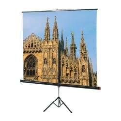 Sopar 1120 pantalla de proyección - Pantalla para proyector (1385 x 23 x 0 mm, 4 kg, Color blanco, Negro)