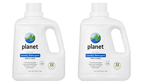 Planet Ultra Liquid Laundry Detergent - 100 oz - Free & Clear - 32 loads (Pack of 2)