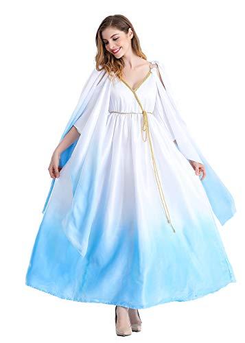 Womens Masquerade Party Greek Goddess Cosplay Dress Girls Halloween Costumes Princess Dress -