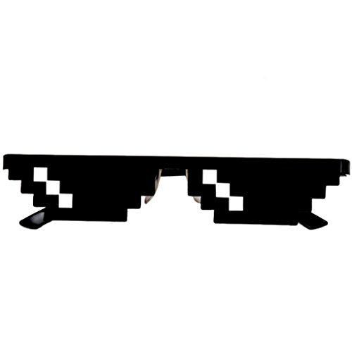 Thug Life Glasses 8 Bit Pixel Deal With IT Sunglasses Unisex Sunglasses Toy By Whillows (Blak, 1)