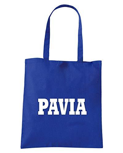 Borsa Shopper Royal Blu WC0993 PAVIA ITALIA CITTA STEMMA LOGO