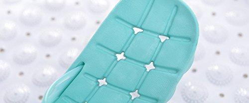 Feiupe Girl Women Non-slip Household Bathroom Shower Beach Pool Slipper Sandal (9-10 B(M) US, Green)