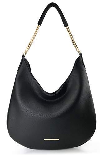 Hobo Chain Shoulder Handbag Minimalist Women Bucket Purse ()