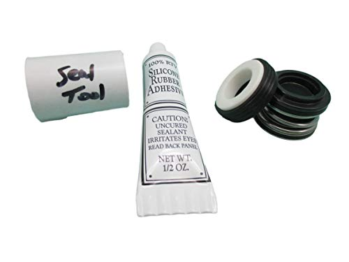 """American Spa Parts Shaft Seal Kit, PS-200, 5/8"""" Shaft, Silicon & Tool Buna Fits Most Aqua-Flo Wet Ends"""