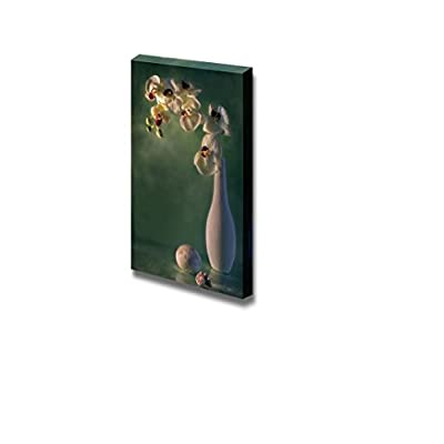 Canvas Prints Wall Art - Still Life with Orchid in a White Vase - 36