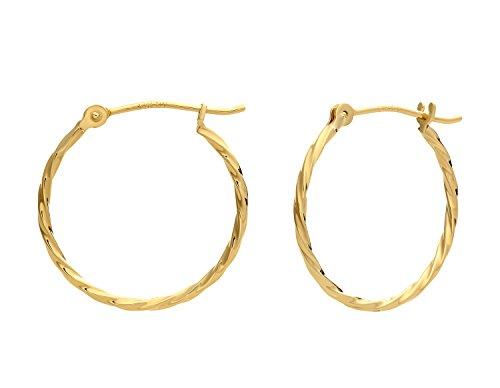 ted Round Hoop Earrings (18mm) ()