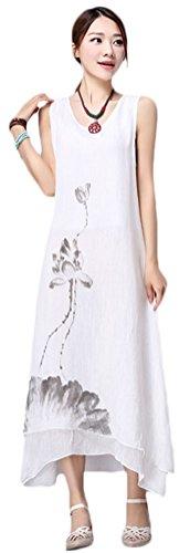 Soojun Printing Layered Sleeveless Dresses
