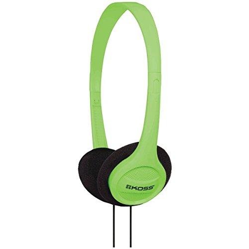 Koss KPH7G Portable On-Ear Headphone with Adjustable Headband – Green
