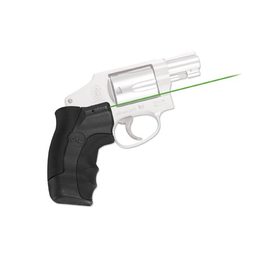 Smith & Amp ; Wesson - Crimson Trace LG-350G Green Laser Lasergrips for Smith & Wesson J-Frame Round Butt Revolvers