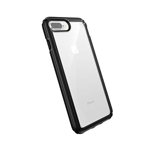 Speck Products Compatible Phone Case for Apple iPhone 8 Plus, Presidio V-Grip Case, Clear/Black
