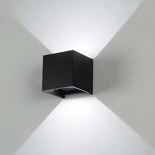 Modern outdoor lights amazon awakingdemi 7w led wall lights cool white sconces ip67 surface mounted outdoor cube lamp waterproof up down cold white light394x394x394inch workwithnaturefo