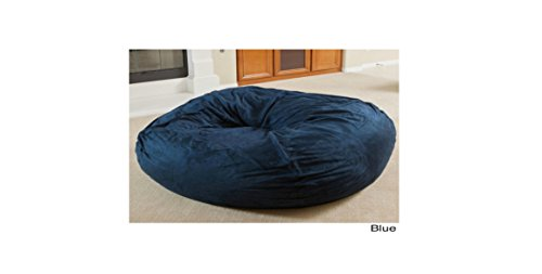 Bean Bag Chair Huge 5-foot Faux Suedecomfortable Beanbag Large (Blue) by Christopher Knight Madison