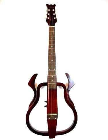 Sojing 010 Silent Guitarra Eléctro- Acústica - Rojo: Amazon.es ...