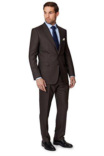 ermenegildo-zegna-cloth-mens-regular-fit-brown-sharkskin-2-piece-suit-46l
