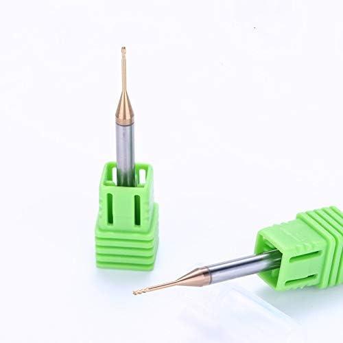 GENERICS LSB-Werkzeuge, 0,2/0,3/0,4/0,5 MM HRC60 2 / 4Flöten Vollhartmetall Langhals-Planfräser Schaftfräser aus Wolframstahl Fräsen von Schneidwerkzeugen (Cutting Edge Diameter : 3.0x4Dx50L L12)