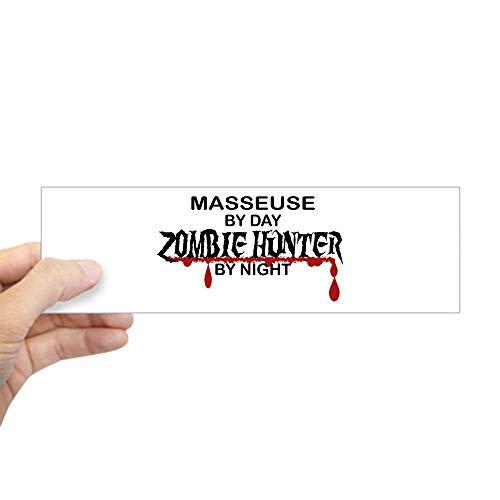 Zombie Rectangle Magnet - CafePress Zombie Hunter Masseuse 10