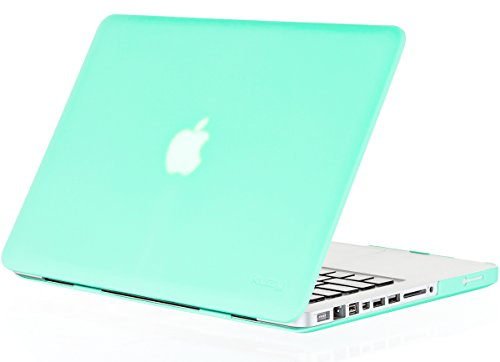 MacBook Pro 13.3 inch Case A1278 Older Verision, Kuzy Rubberized Matte Cover Hard Shell Case for MacBook Pro 13 inch with CD-ROM Release 2012-2008 - Mint Green
