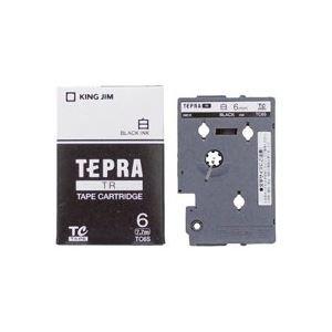 (業務用30セット) キングジム テプラTRテープ TC6S 白に黒文字 6mm ×30セット B01N7KZ4Y8
