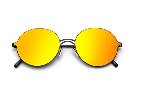 redonda GLSYJ coreano planas LSHGYJ salvaje tendencia de caja gafas sol personalidad Versión sol de señoras colorido Red en sol gafas Mercury gafas de de dtPwXP