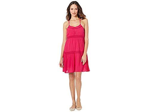 (Roper Women's 3017 Polyester Crepe Spaghetti Strap Dress Pink Small)