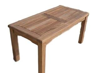 Patio Essentials Malmesbury Rectangular 90cm Teak Table Teak Coffee Table