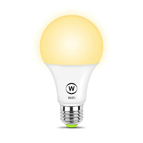 MagicLight WiFi Smart Light Bulb, Soft White (2700K), 50w Equivalent Dimmable Sunrise A19 Smart Light Bulb, No Hub Required, Compatible with Alexa & Google Home Assistant