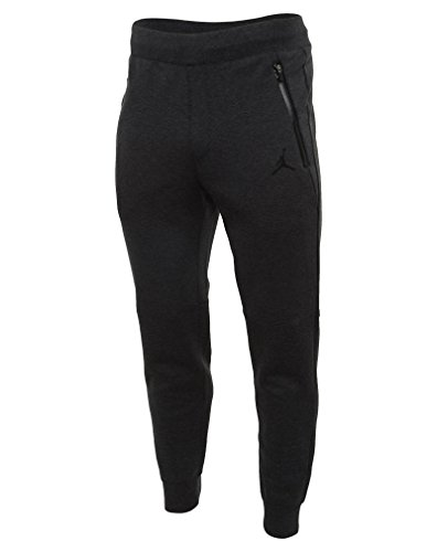 [688994-032] AIR JORDAN AJ FLEECE PANT APPAREL PANTS AIR JORDANHEATHER BLACK HEATHER, XL by NIKE