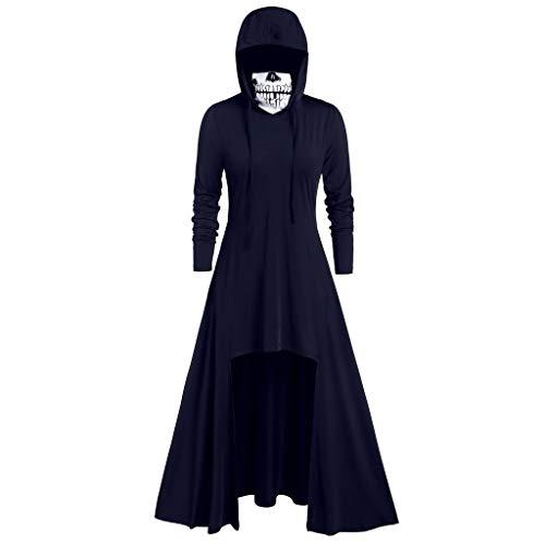 iLOOSKR Fashion Women's Hooded Skirt Pullover Long Sleeve High Bandage Dress Cloak Dress (Evil Queen From Snow White Costume Plus Size)