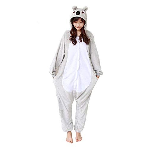 Baby Halloween Costumes Australia (Japsom Grey Koala Bear Animal Kigurumi Cartoon Cosplay Costume One-Piece Pajamas)