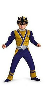 [Gold Ranger Samurai Classic Muscle Child Costume - Small] (Power Ranger Samurai Costumes)