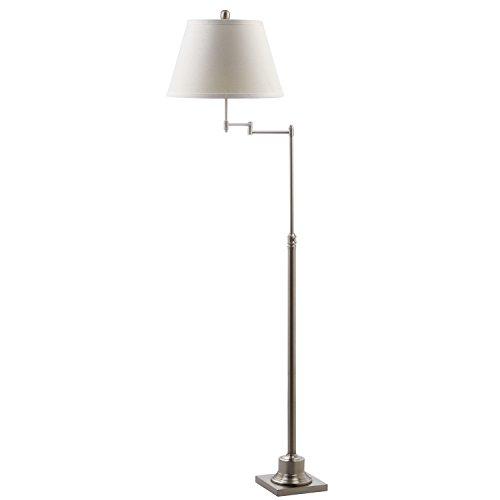 Safavieh Lighting Collection Parker Swivel Nickel 60-inch Floor Lamp -