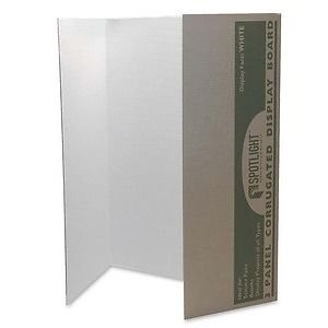 Walled Presentation Board - Pacon Spotlight Single-walled Tri-fold Presentation Board - PAC3774 supplier:shoplet