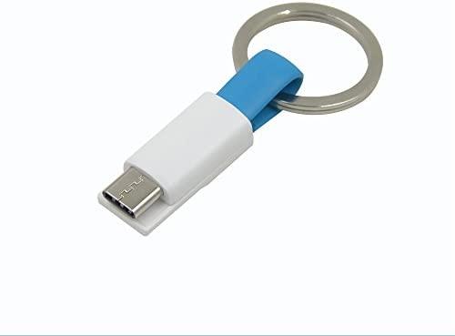 Cable de datos del llavero del USB, Mini TYPE-C Cable del cargador ,carga rápido y transferencia de datos - 9cm,color azul