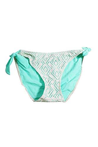 - Hula Honey New Green Ivory Crochet Side-Tie Hipster Bikini Bottom L $28 DBFL